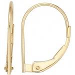 14k Yellow Plain Lever Back