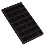 28-Clip Earring Tray: Black Suede