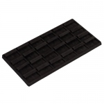 24-Ring and Earring Tray: Plastic Outer, Black Suede