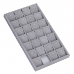 28-Pendant Twist Tray: Gray Suede