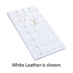 28-Earring/Pendant Display: Off White Leather