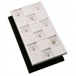 18-Earring/Pendant Inserts in Tray: Black Suede