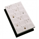 18-Pendant/Earring Inserts in Tray: Black Suede