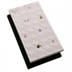 32-Pendant/Earring Inserts in Tray: Black Suede