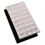 32-Hoop Earring Inserts in Tray: White Tray