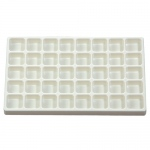 40 Sections White Plastic Tray