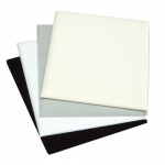 1/2 Size Pad: White Leather