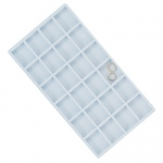 24-Compartment Flocked Insert: White