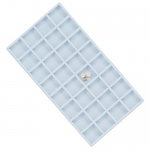 32-Compartment Flocked Insert: White
