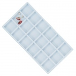 18-Compartment Flocked Insert: White