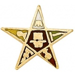 14k Yellow Masonic Emblem With Tube: 8.30mm x 8.30mm