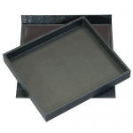 1/2 Size Black Tray with Lid
