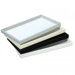 "1"" High Deluxe Tray: White"