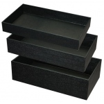 "Black Tray: 4""-High"