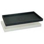 "1"" High Plastic Tray: Black"