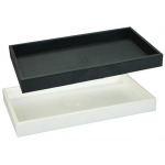 "1.5"" High Plastic Tray: White"