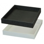 "2"" High Plastic Tray: Black"