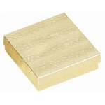 "Cotton Filled Gold Box: Size 3.5"" x 3.5"" x 1"""