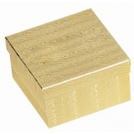 "Cotton Filled Gold Box: Size 3.5"" x 3.5"" x 2"""