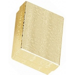 "Cotton Filled Gold Box: Size 3"" x 2.5"""