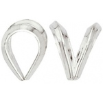 Rabbit Ear Bail: 14K White, 6.85 mm x 8.51 mm Size