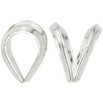 Rabbit Ear Bail: Sterling Silver, 5.02 mm x 6.54 mm Size
