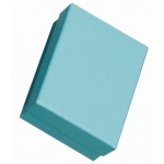 "Cotton Filled Blue Box: 3"" x 2.5"""