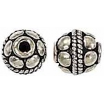 Bali Bead Sterling Silver: 6.0 mm Size