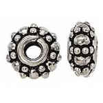 Bali Bead Spacer Sterling Silver: 9.0 mm Size