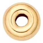 Smooth Roundel: 14K Yellow, 6.0 mm x 3.1 mm Size