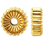 Corrugated Roundel: 14K Yellow, 6.0 mm x 2.6 mm Size