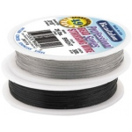 Bead Wire 49 Strand: Black, 0.018'' Diameter