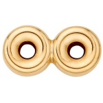 2-Strands Roundel Spacer: 14K Yellow, 5.0 mm Size