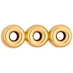 3-Strands Roundel Spacer: 14K Yellow, 4.0 mm Size