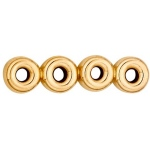 4-Strands Roundel Spacer: 14K Yellow, 5.0 mm Size