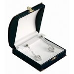 Diana Large Clip Earring Box: Black