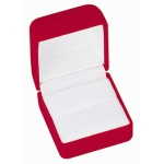 Flocked Ring Box: Red