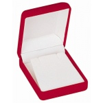 Flocked Pendant Box: Red
