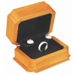 Ring And Earring Box: Beechwood/Black