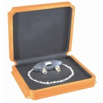Necklace, Ring & Earring Box: Bechwood/Black
