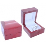 Wooden Ring Box (Clip): Cherrywood/White