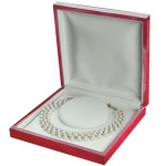 Large Necklace Box: Cherry/White