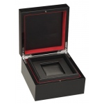 Luxury Watch Box: Black/Red