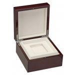 Luxury Watch Box: Cherry/White