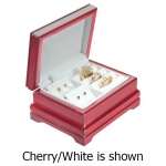 3-Rings/2-Earrings Box: Cherry/Cream
