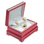 Cherry/White Ring Plus Earring Box