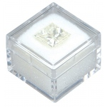"White Square Gem Jar (Foam): 1"" x 1"", Pack of 12"