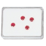 "White Plastic Gem Box (Foam): 3"" x 2.25"", Pack of 12"