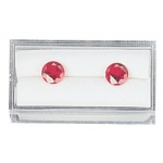 "White Plastic Gem Box (Foam): 2"" x 1"", Pack of 12"