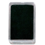 "Black Plastic Gem Box (Foam): 2.25"" x 1.375"", Pack of 12"